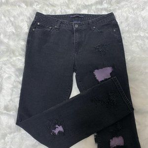 Levi's Mid Rise 12M Black Destroyed/Patched Jeans